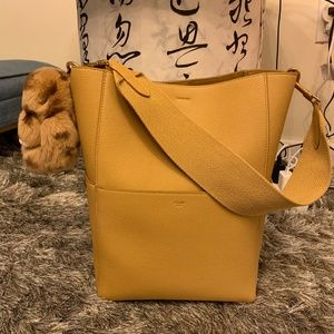 NEW CELINE SANGLE BUCKET BAG, CUMIN COLOR
